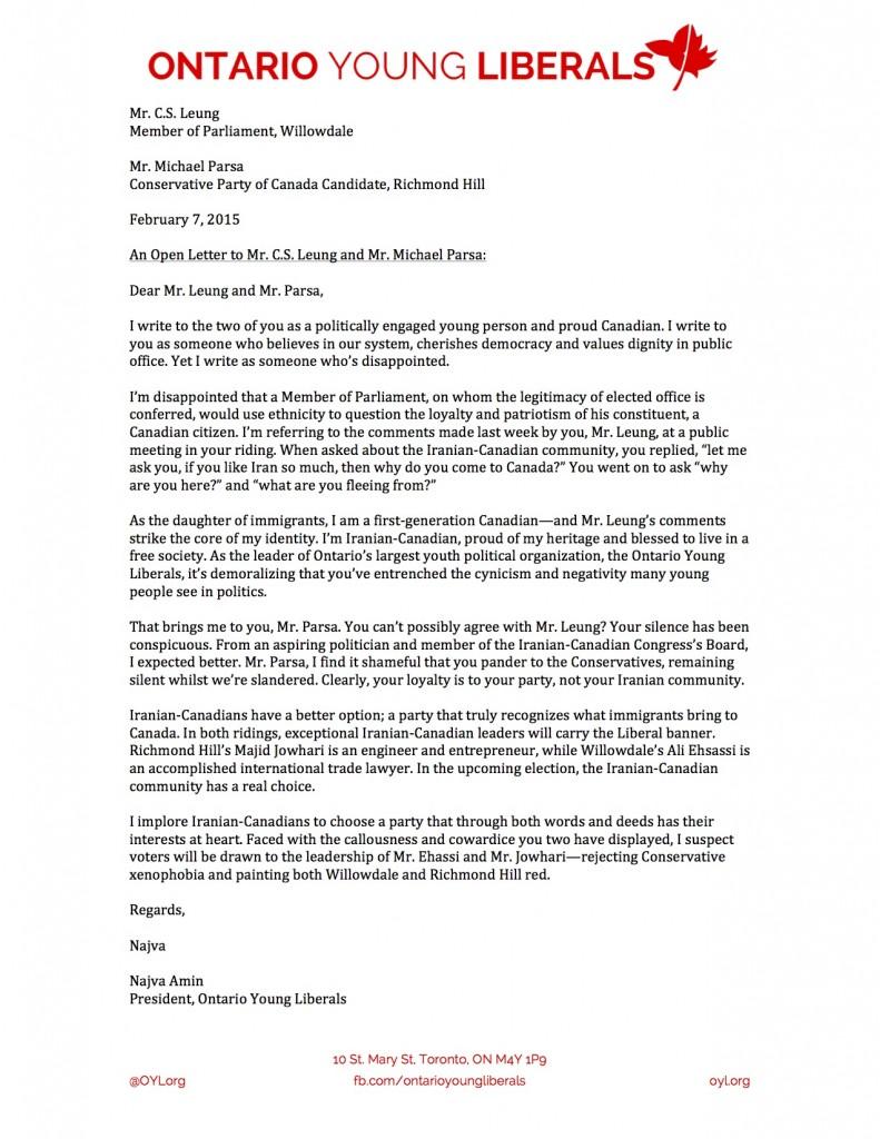 Leung Letter